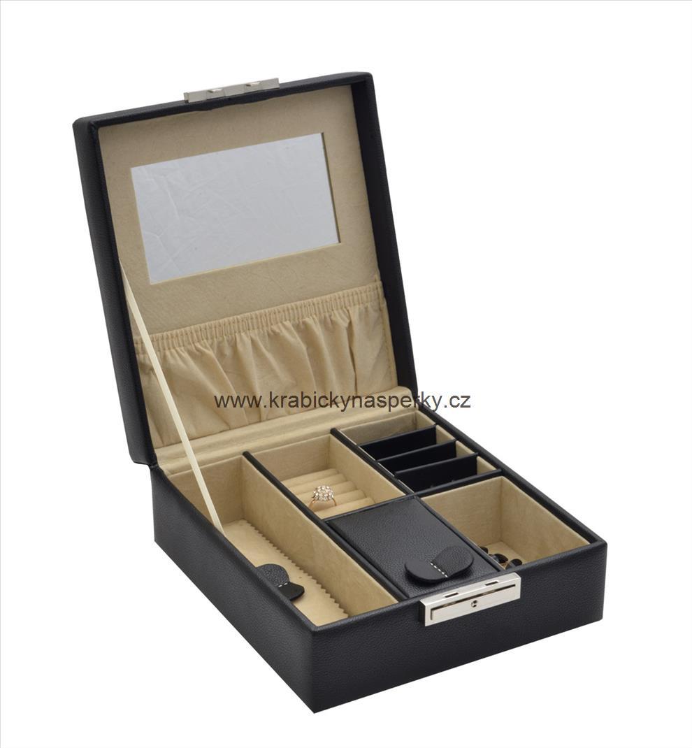 Stylová černo-bílá šperkovnice SP-558/A25