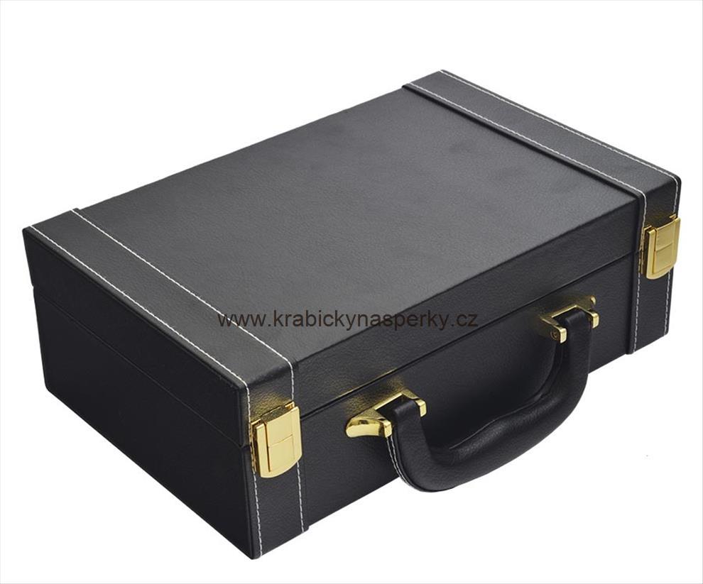 Zajímavá černá šperkovnice ve tvaru kufříku SP-942/A25