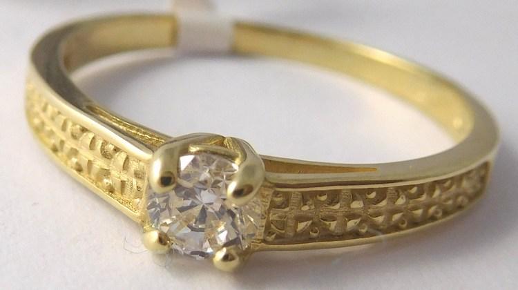 Mohutný zásnubní zlatý prsten se zirkonem 585/1,95gr vel. 56 22600101017 (22600101017 - POŠTOVNÉ ZDARMA)