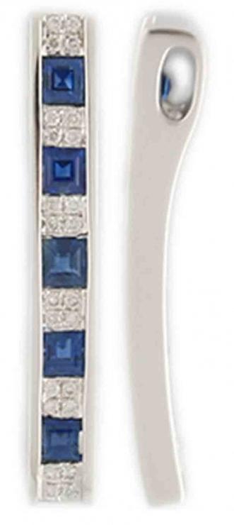 Luxusní diamantový přívěsek z bílého zlata s modrým safírem 585/1,25gr 3870328 (3870328)
