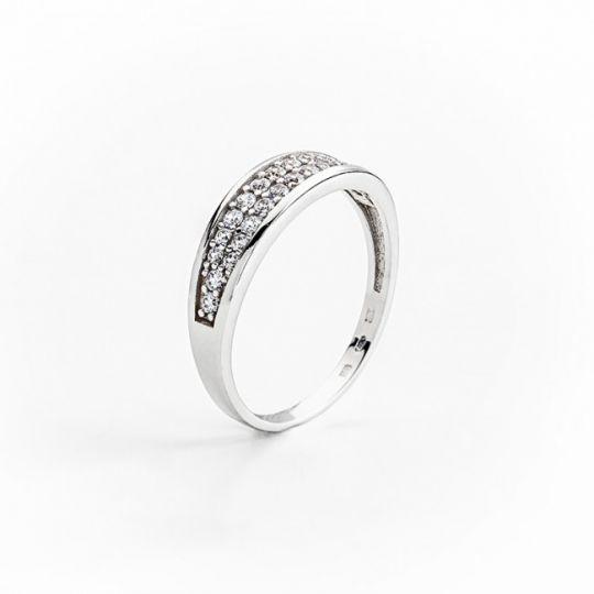 Dámský luxusní zlatý prsten se zirkony cca 585/2,40gr vel. libovolná 323041326 (323041326)