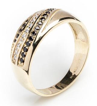 Dámský luxusní zlatý prsten se zirkony cca 585/4,50gr vel. libovolná 223041340 (223041340 - POŠTOVNÉ ZDARMA)