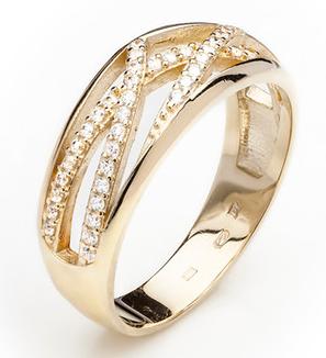Dámský luxusní zlatý prsten se zirkony cca 585/4,10gr vel. libovolná 223041346 (223041346 - POŠTOVNÉ ZDARMA)