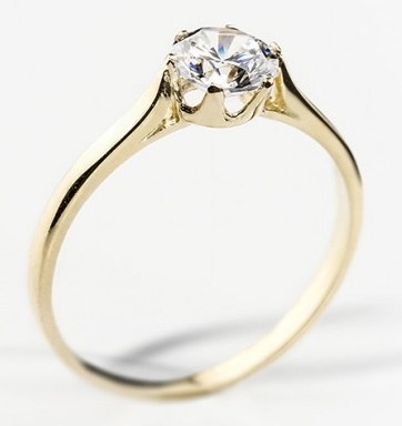 Dámský zásnubní zlatý prsten se zirkonem cca 585/1,90gr vel. libovolná 22604109 (226041090 - POŠTOVNÉ ZDARMA)