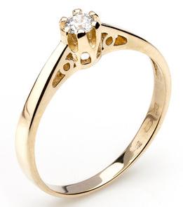Dámský zásnubní zlatý prsten se zirkonem cca 585/2,2gr vel. libovolná 223041344 (223041344 - POŠTOVNÉ ZDARMA)