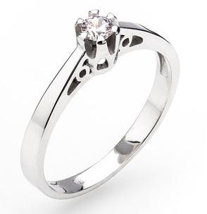 Dámský zásnubní zlatý prsten se zirkonem cca 585/2,2gr vel. libovolná 323041344 (323041344 - POŠTOVNÉ ZDARMA)