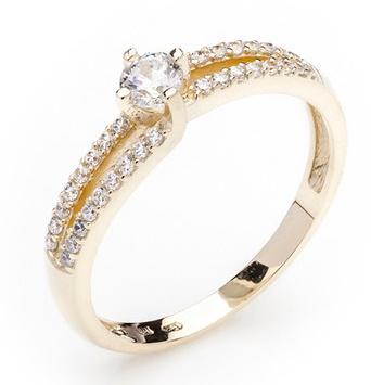 Dámský zásnubní zlatý prsten se zirkony cca 585/2,3gr vel. libovolná 223041339 (223041339 - POŠTOVNÉ ZDARMA)