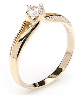 Dámský zásnubní zlatý prsten se zirkony cca 585/2,7gr vel. libovolná 223041343 (223041343 - POŠTOVNÉ ZDARMA)