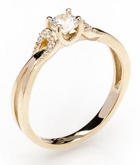 Dámský zásnubní zlatý prsten se zirkony cca 585/2,3gr vel. libovolná 223041345 (223041345 - POŠTOVNÉ ZDARMA)