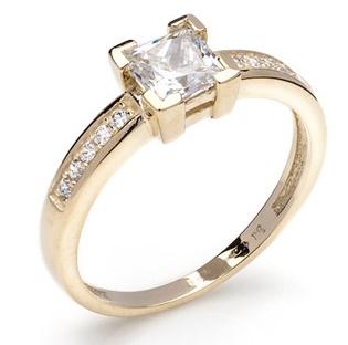 Dámský zásnubní zlatý prsten se zirkony cca 585/2,4gr vel. libovolná 226041117 (226041117 - POŠTOVNÉ ZDARMA)