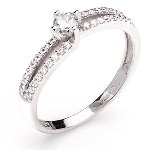 Dámský zásnubní zlatý prsten se zirkony cca 585/1,90gr vel. libovolná 323041339 (323041339 - POŠTOVNÉ ZDARMA)