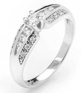 Dámský zásnubní zlatý prsten se zirkony cca 585/2,60gr vel. libovolná 323041342 (323041342 - POŠTOVNÉ ZDARMA)
