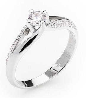 Dámský zásnubní zlatý prsten se zirkony cca 585/2,50gr vel. libovolná 323041343 (323041343 - POŠTOVNÉ ZDARMA)