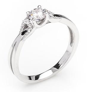 Dámský zásnubní zlatý prsten se zirkony cca 585/2,0gr vel. libovolná 323041345 (323041345 - POŠTOVNÉ ZDARMA)