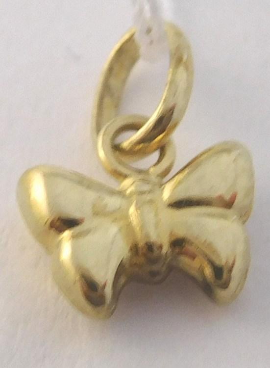 Zlatý přívěsek - motýlek pro štěstí 585/0,35gr T243