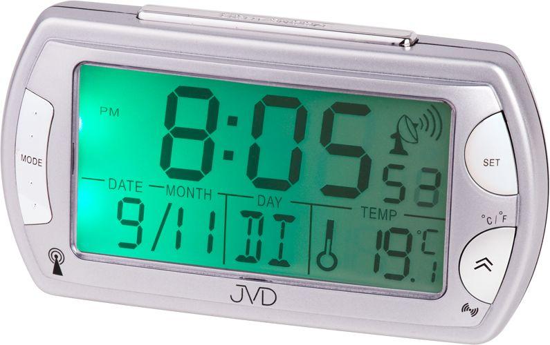 Černý rádiem řízený luxusní digitální budík JVD RB358.9