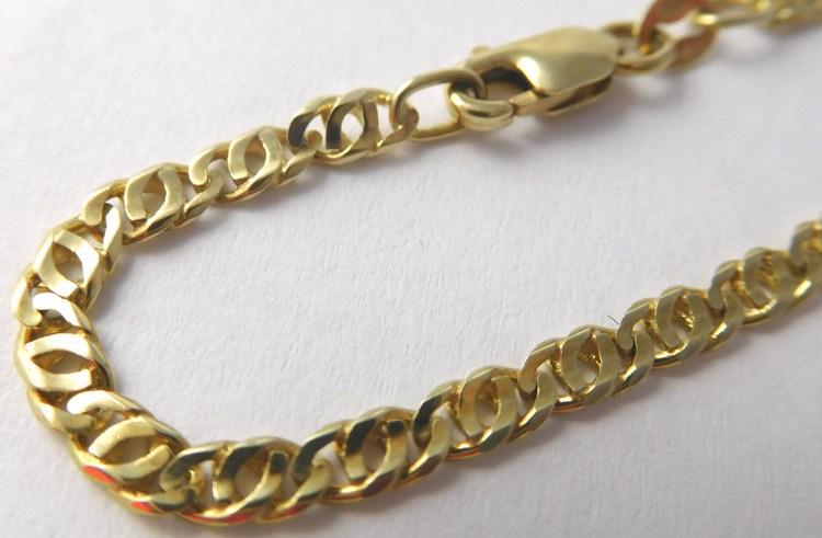 Pánský mohutný plný zlatý řetěz v délce 55cm 585/8,85gr T253