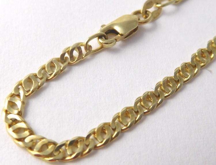 Dámský mohutný plný zlatý řetěz v délce 45cm 585/7,35gr T254