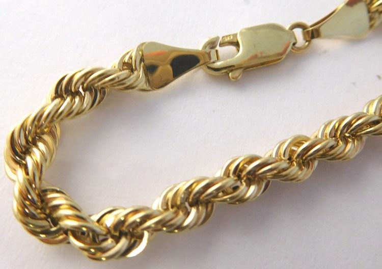 Mohutný zlatý masivní řetízek - valis šířka cca 4,5mm 585/11,30gr 50cm T262 (POŠTOVNÉ ZDARMA - pánský / dámský zlatý valis)