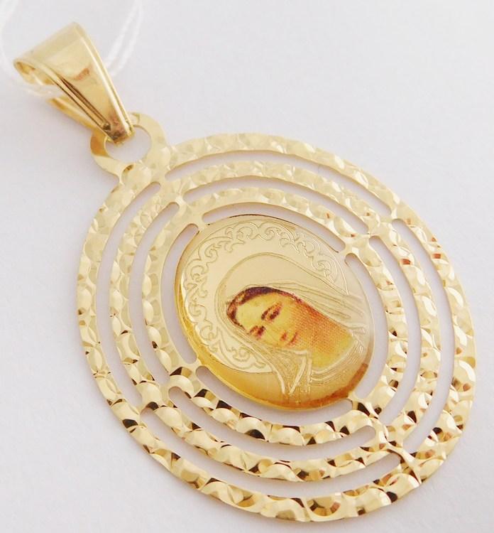 Velká zlatá madonka - zlatá madona přívěsek 585/1,48gr H823 (POŠTOVNÉ ZDARMA!!!)