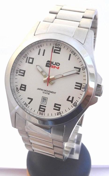 Pánské levné ocelové vodotěsné hodinky BUD-IN steel B1701.1 - 10ATM (POŠTOVNÉ ZDARMA!!!)