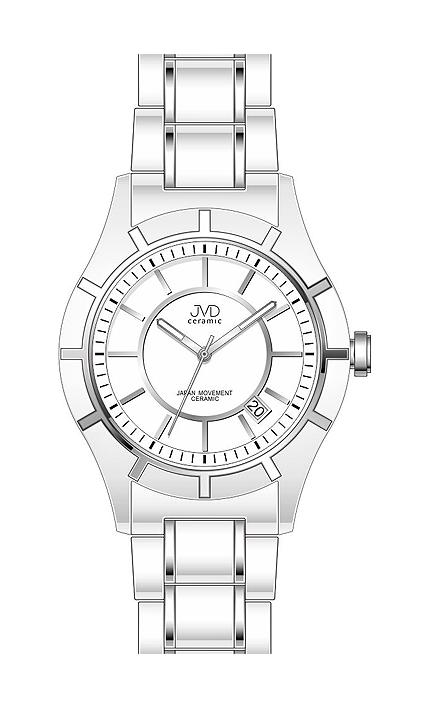 Dámské bílé keramické lehké hodinky JVD ceramic J3005.1 (POŠTOVNÉ ZDARMA!!)