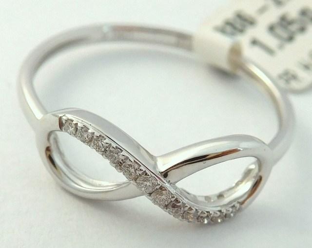 Luxusní zlatý diamantový prsten s diamantem, bílé zlato brilianty vel.50 3862777 (3862777)