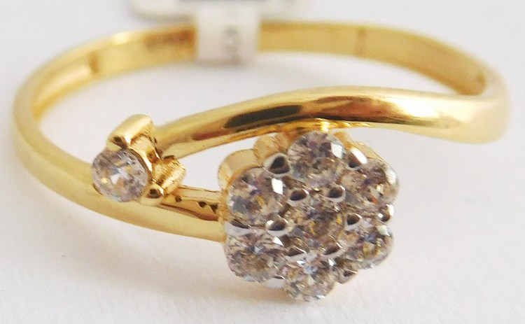 Dámský mohutný zlatý prsten se zirkony vel.58 585/1,35gr 1111363 (1111363 - POŠTOVNÉ ZDARMA)