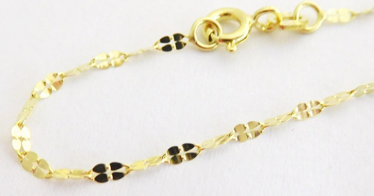 Dámský zlatý gravírovaný řetízek 50cm 585/1,02gr 2840206