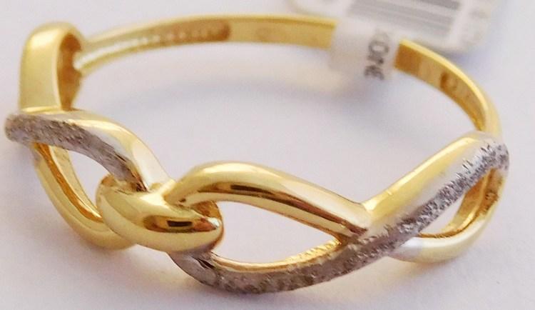 Zlatý prsten pro zamilované-propletný symbol nekonečna 585/1,20g vel. 54 1111424