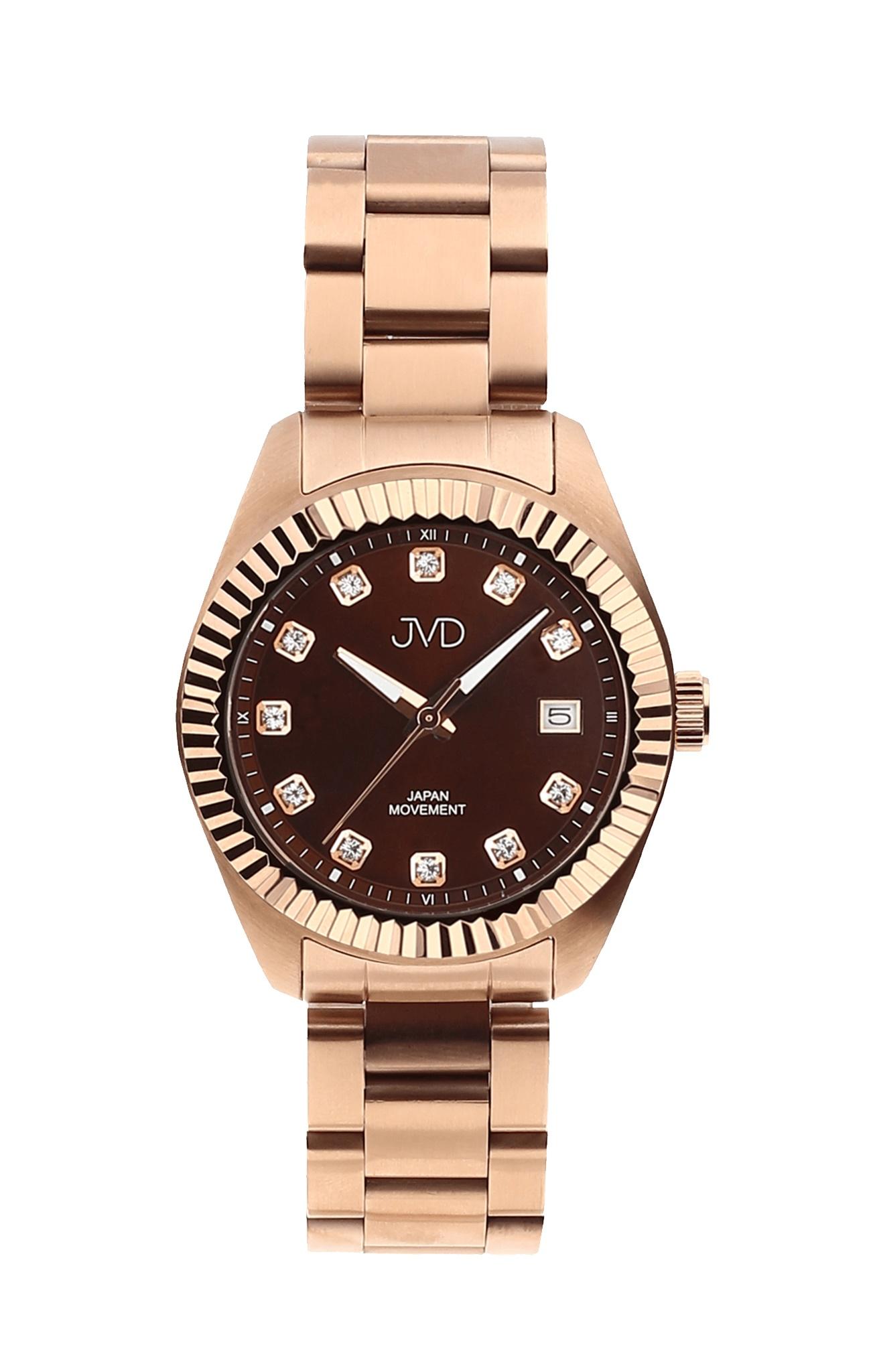 Dámské ocelové moderní náramkové hodinky JVD JC579.3 (5ATM - voděodolnost)