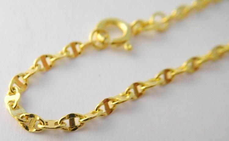 Mohutný silný velký pánský zlatý řetízek s gravírováním 50cm 585/1,92gr 3640164