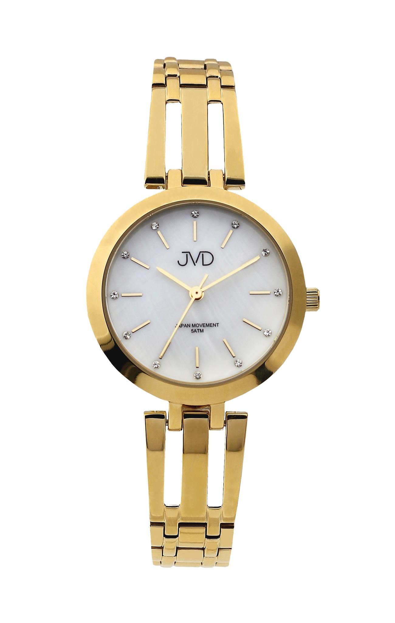 Dámské elegantní ocelové zlacené hodinky JVD J4155.2 (POŠTOVNÉ ZDARMA!! - vodotěsnost 5ATM)