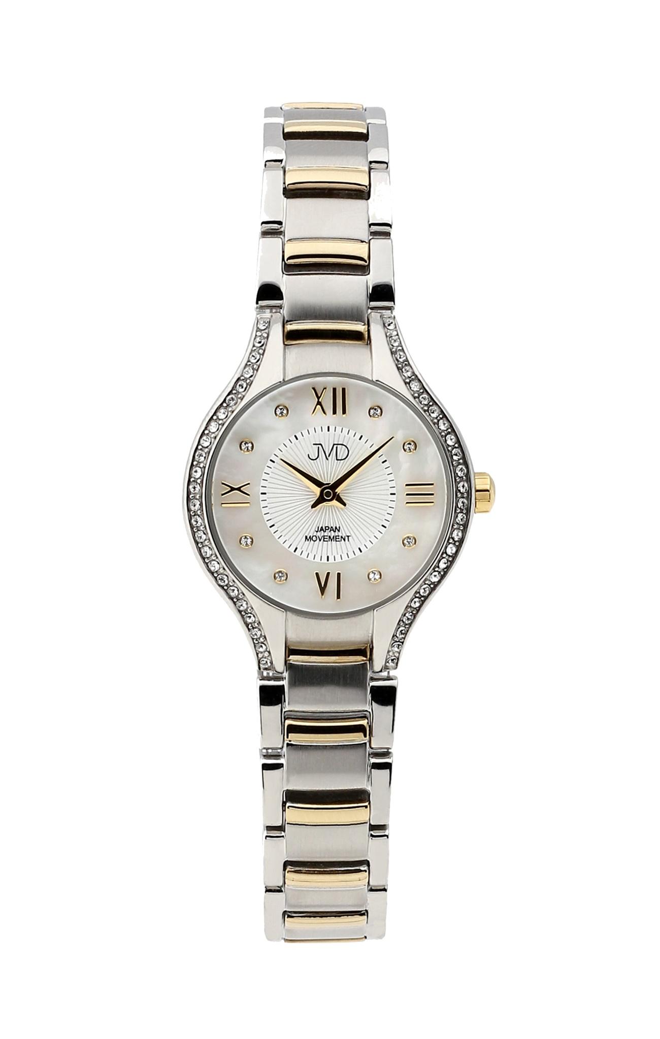 Dámské ocelové zlacené moderní hodinky JVD JC118.3 se zirkony (POŠTOVNÉ  ZDARMA! 739b79d6dc