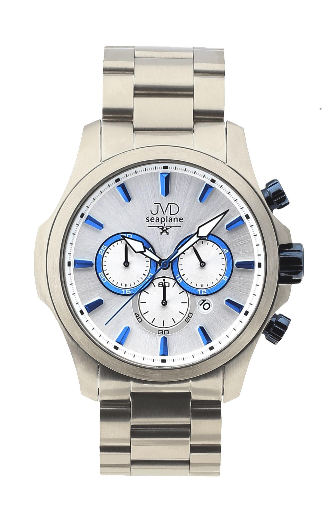 Vysoce odolné vodotěsné chronografy hodinky JVD Seaplane CORE JC704.1 - 10ATM (POŠTOVNÉ ZDARMA!!)