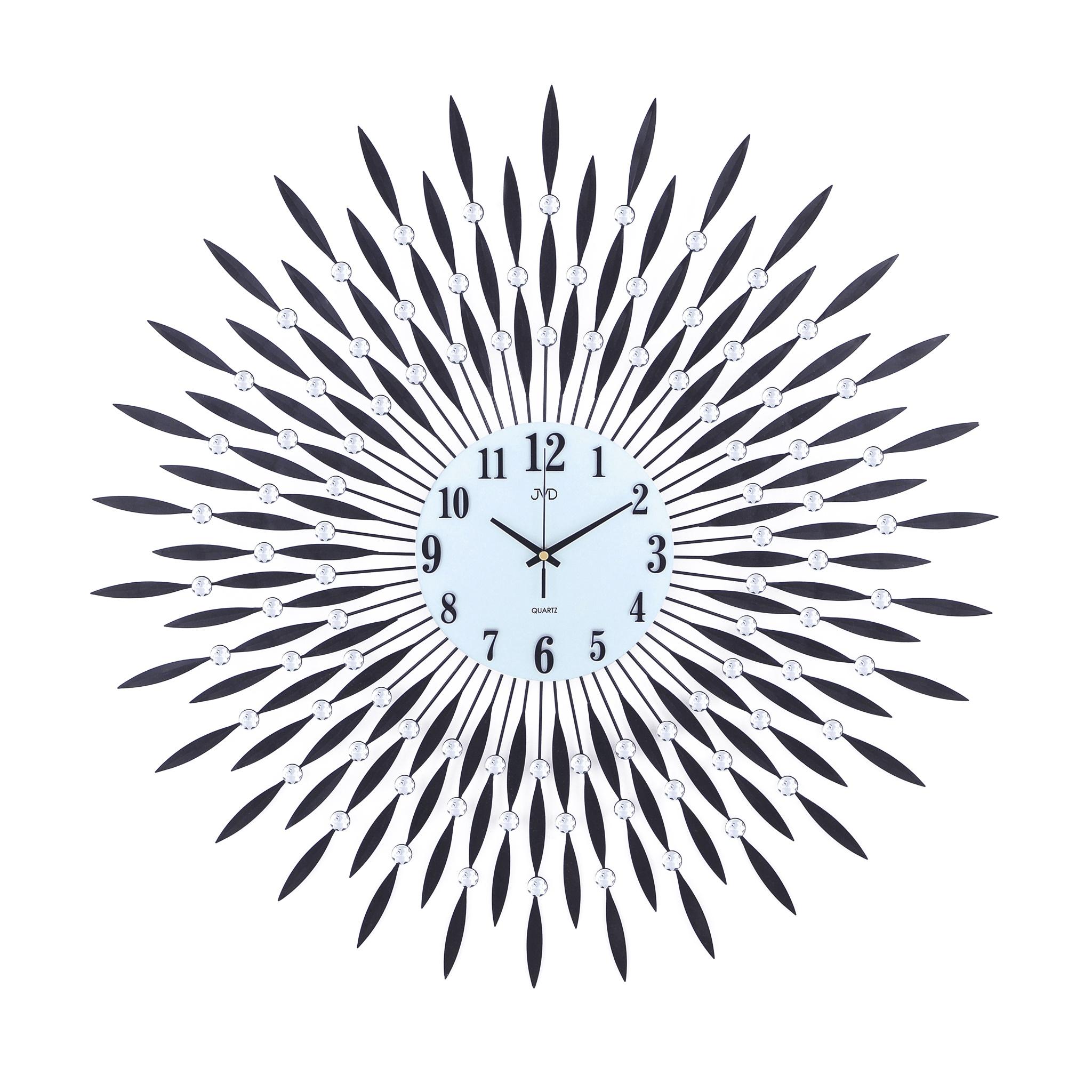 Paprskovité kovové skleněné nástěnné designové hodiny JVD HJ24 (POŠTOVNÉ ZDARMA!!)