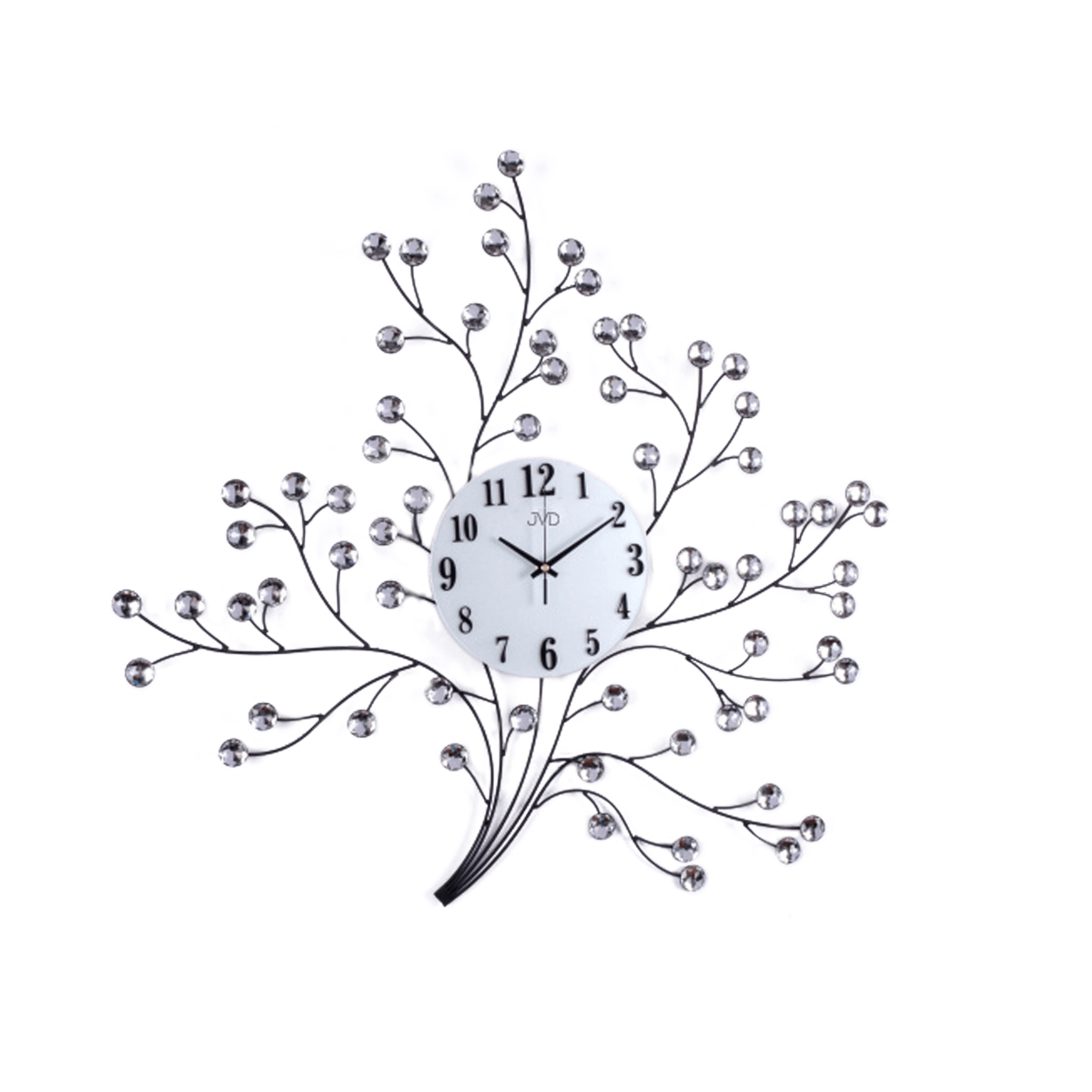 Paprskovité kovové skleněné květinové designové hodiny JVD HJ80 (POŠTOVNÉ ZDARMA!!)