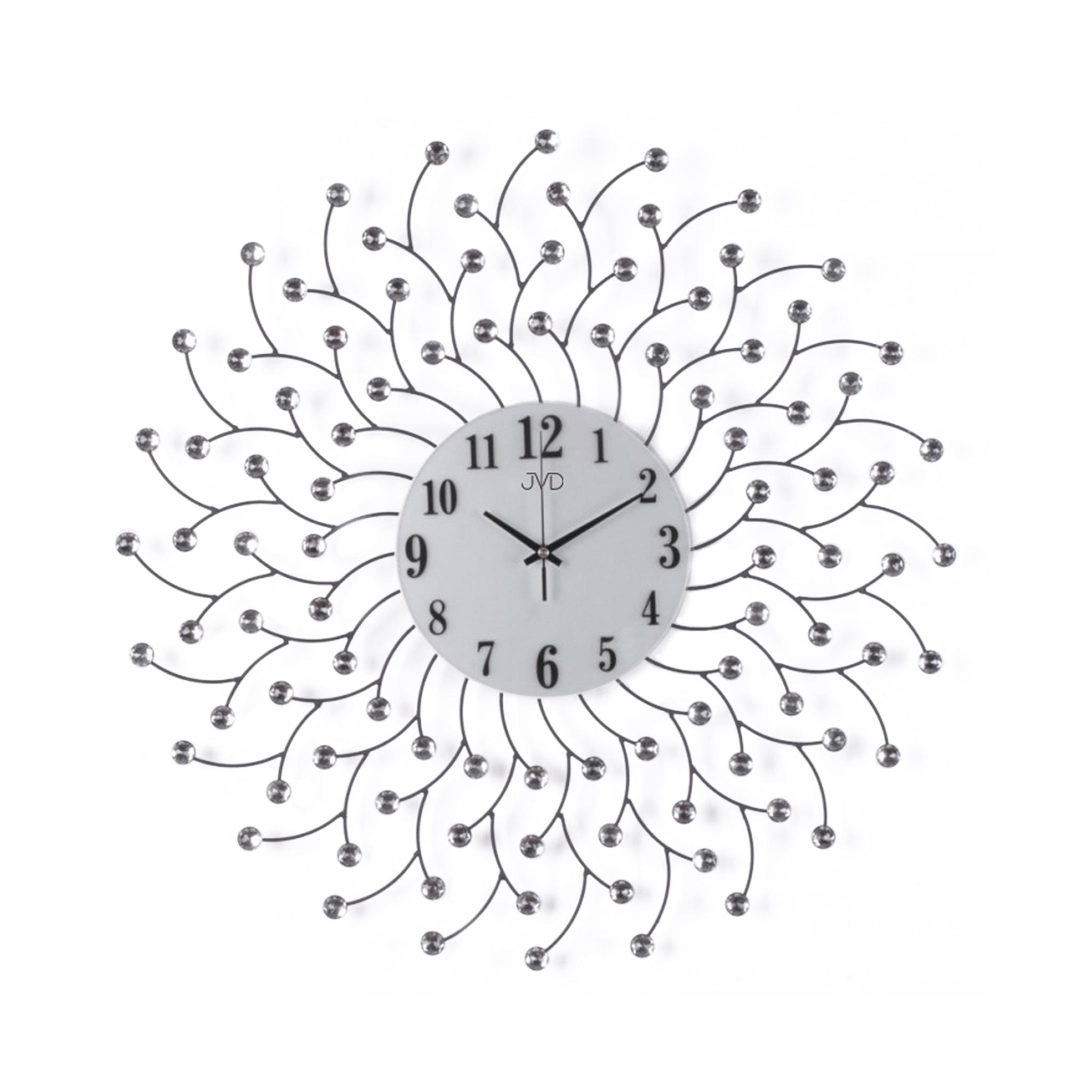 Paprskovité kovové skleněné sluníčkové designové hodiny JVD HJ82 (POŠTOVNÉ ZDARMA!!)
