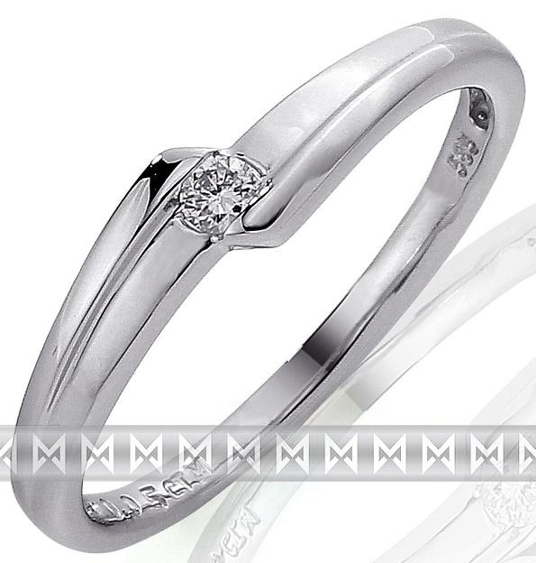Zásnubní zlatý diamantový prsten z bílého zlata libovolná velikost 3860695 (3860695 - POŠTOV