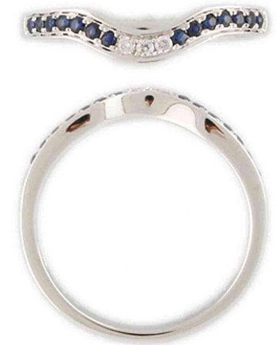 Diamantový prsten s diamanty a modrými pravými safíry vel. libovolná 38606 (3860649 - POŠTOVNÉ ZDARMA!!!)