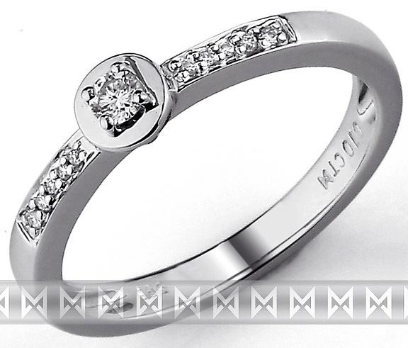 Zásnubní zlatý diamantový prsten z bílého zlata 3861272 (3861272 - POŠTOVNÉ ZDARMA!!! velikost libovolná)