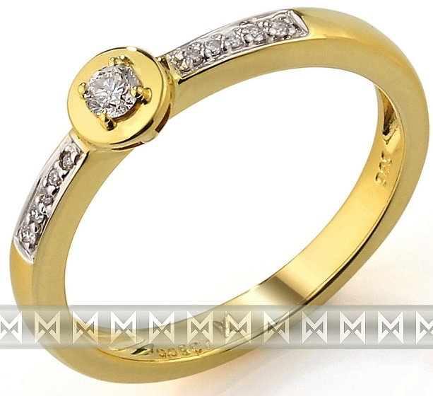 Zásnubní zlatý diamantový prsten ze žlutého zlata 3811272 (3811272 - POŠTOVNÉ ZDARMA!!! veli