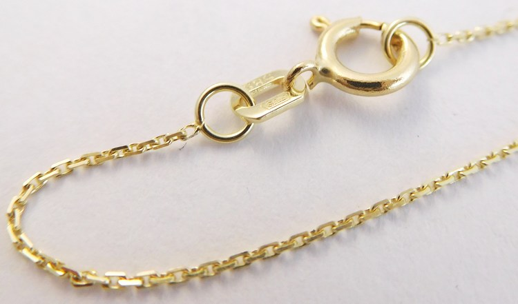 Dětský zlatý přívěskový řetízek ze žlutého zlata 585/0,95gr 38cm 3640039 (3640039 - POŠTOVNÉ ZDARMA!!)