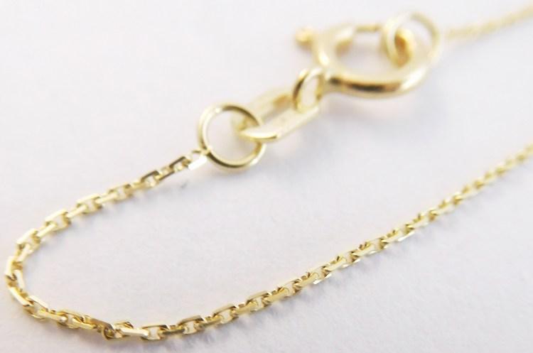 Dětský zlatý přívěskový řetízek ze žlutého zlata 585/0,92gr 36cm 3640039 (3640039 - POŠTOVNÉ ZDARMA!!)