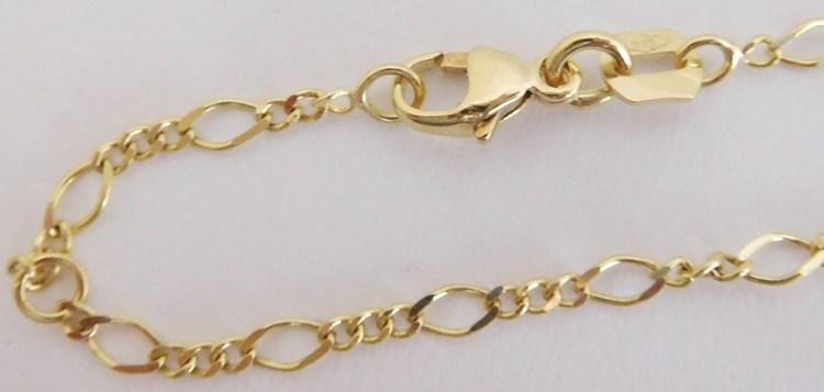 Zlatý pevný náramek na nohu - FIGARO 25cm 585/1,50gr 2841020 (2841020 - POŠTOVNÉ ZDARMA!!)