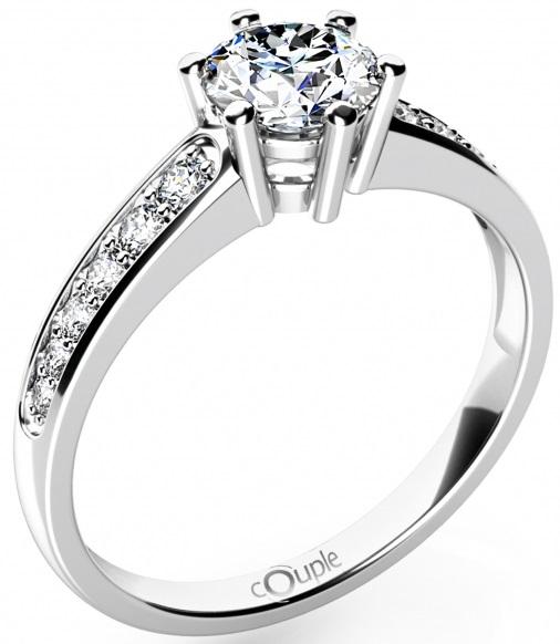 Mohutný zásnubní zlatý prsten posetý se zirkony 585/2,62gr vel.51 6860690 (6860690 - POŠTOVNÉ ZDARMA)