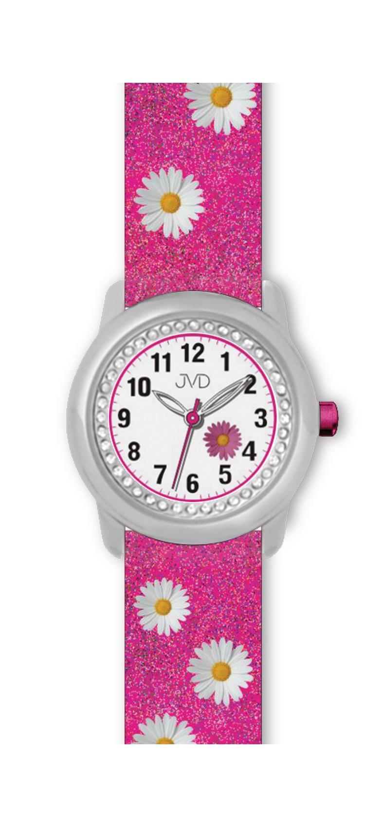 Dětské růžové náramkové hodinky JVD basic J7118.1