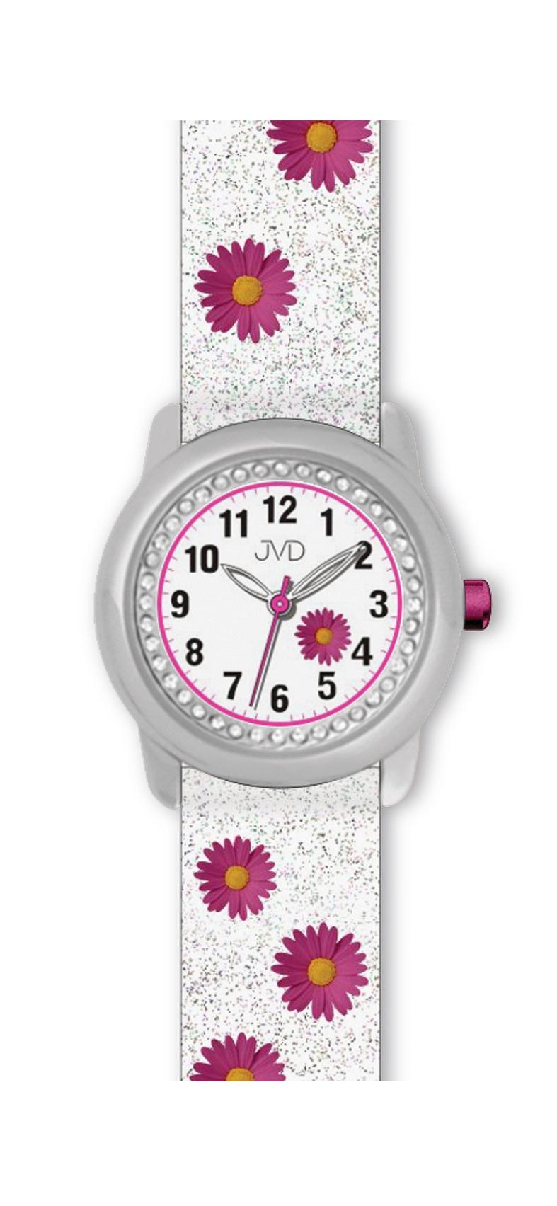 Dětské růžové náramkové hodinky JVD basic J7118.3
