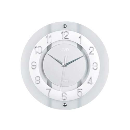 Luxusní skleněné netikající hodiny JVD NS2534.1 (tiché netikající hodiny)