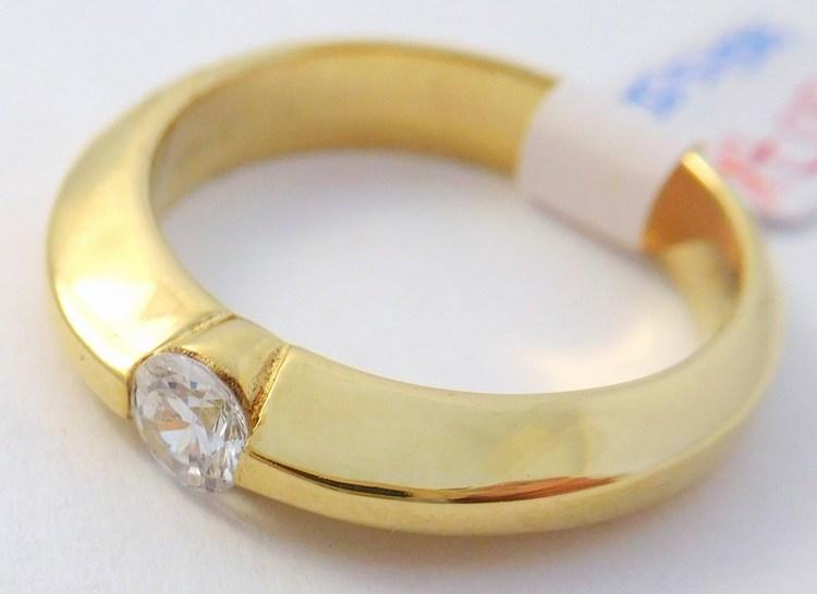 Mohutný zlatý zásnubní prsten se zirkonem 585/5,50gr vel. 56 T307X (POŠTOVNÉ ZDARMA!!! - T307X)
